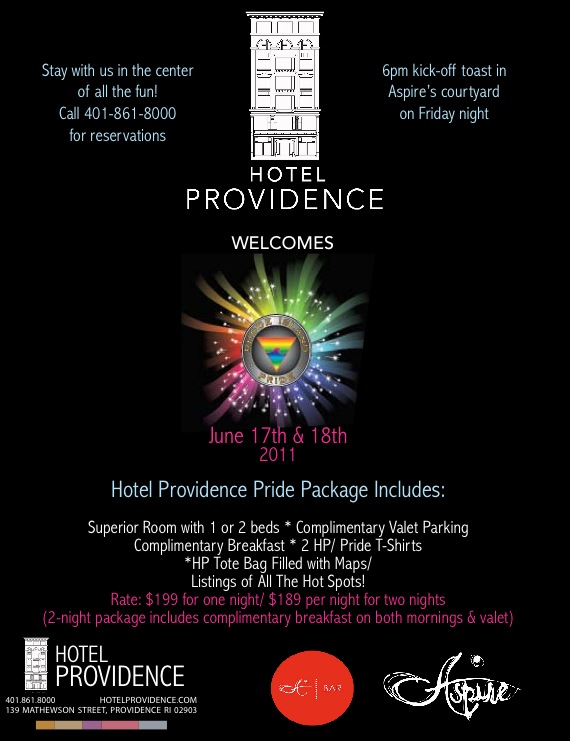 The Hotel Providence Pride Package Flyer